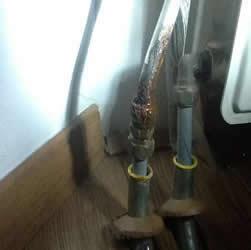 lekkende koppelingen radiator