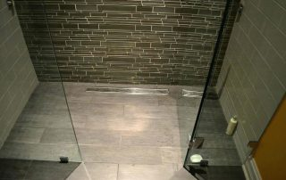 badkamervloer houtenbalk laag